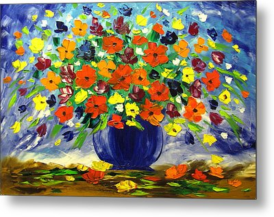 Flowers For You Metal Print by Mariana Stauffer