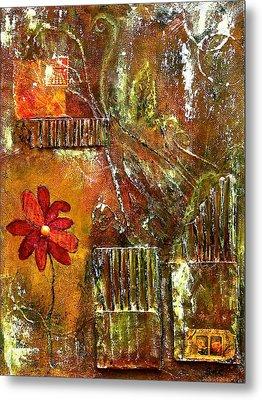 Flowers Grow Anywhere Metal Print by Bellesouth Studio