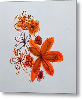 Flowers IIII Metal Print