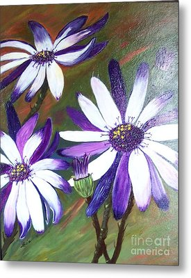 Metal Print featuring the painting Flowers In Motion by Lucia Grilletto