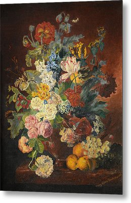 Metal Print featuring the painting Flowers Of Light by Mary Ellen Anderson