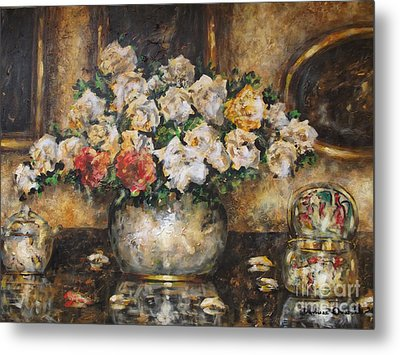 Flowers Of My Heart Metal Print by Dariusz Orszulik