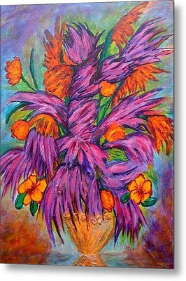 Flowers Of Passion Metal Print by Phoenix The Moody Artist