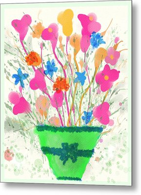 Flowers Of Spring Metal Print by Mary M Collins