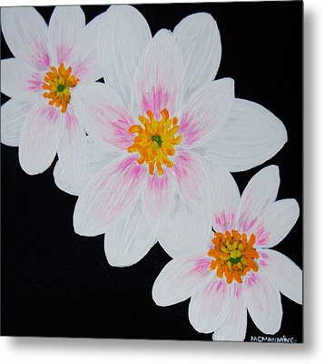 Flowers Of The Night Metal Print by Celeste Manning