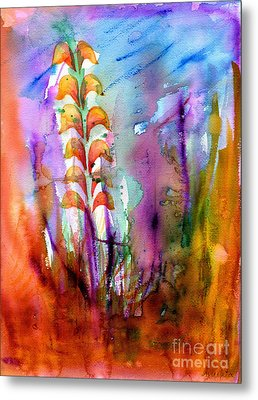 Flowers Orange Metal Print