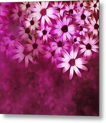 Flowers Pink On Pink Metal Print by Ann Powell