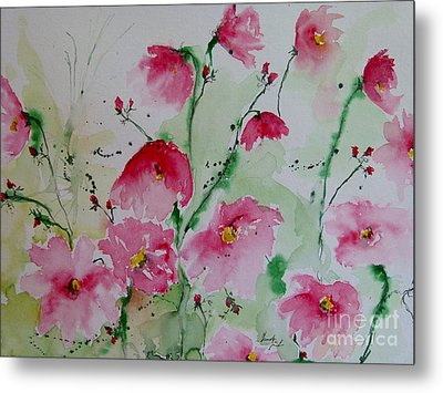Flowers - Watercolor Painting Metal Print by Ismeta Gruenwald