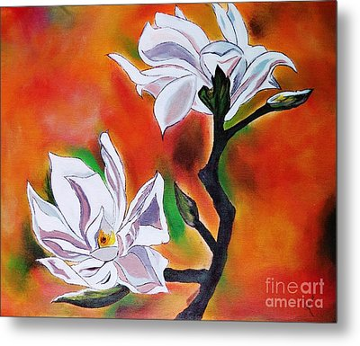 Flowers With Colors Metal Print by Jyoti Vats