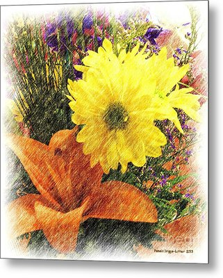 Metal Print featuring the photograph Flowers With Love by Luther Fine Art