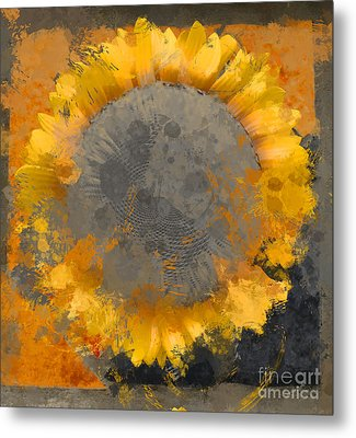 Flowersun - 09279gmn22b3ba13a Metal Print by Variance Collections
