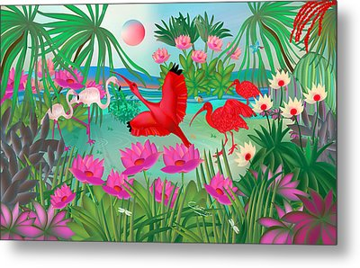 Flowery Lagoon - Limited Edition 1 Of 20 Metal Print