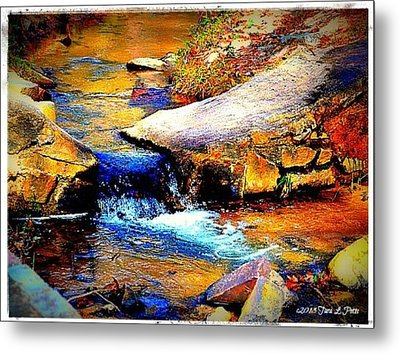 Metal Print featuring the photograph Flowing Creek by Tara Potts