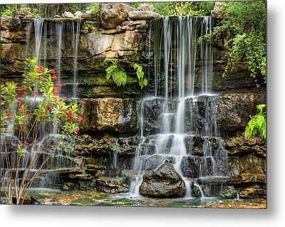 Metal Print featuring the photograph Flowing Falls by Dave Files