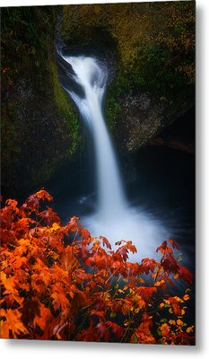 Flowing Into Fall Metal Print