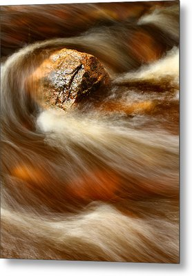 Flowing Stream Metal Print by Acadia Photography
