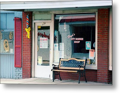 Floyd's Barber Shop Nc Metal Print by Bob Pardue