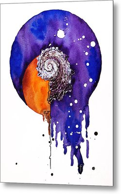 Fluidity 16 - Mollusc Shell - Elena Yakubovich Metal Print by Elena Yakubovich