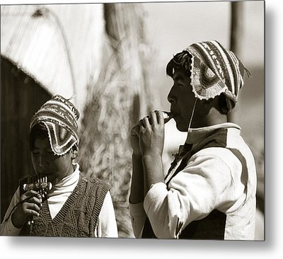 Flute Players Metal Print