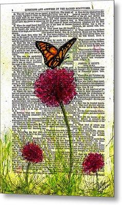 Flutter By Metal Print