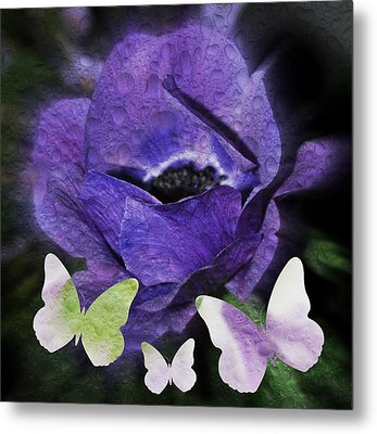 Metal Print featuring the photograph Flutterbys by Amanda Eberly-Kudamik