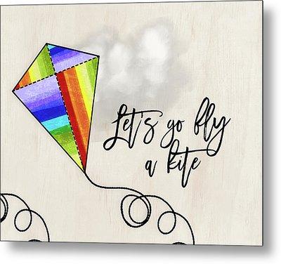 Fly A Kite Metal Print