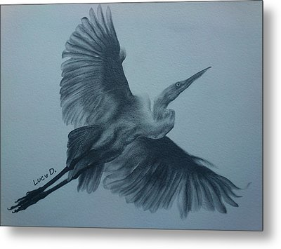 Fly Away Metal Print by Lucy D