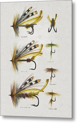 Fly Fishing Flies Metal Print