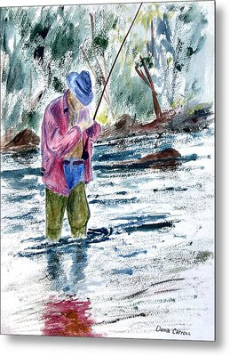 Fly Fishing The South Platte River Metal Print by Dana Carroll