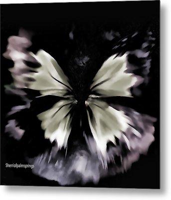 Butterfly Art  Fly Free Little Butterfly Metal Print by Sherri's Of Palm Springs