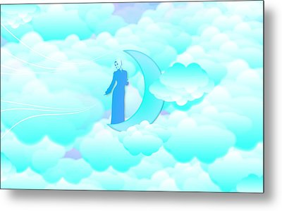Fly In The Sky Metal Print by Islamic Cards