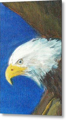 Metal Print featuring the painting Fly Like The Eagle by Jane  See