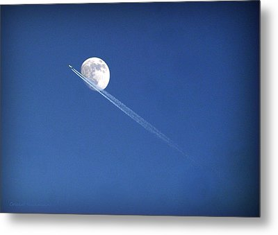 Fly Me To The Moon Metal Print by Cricket Hackmann