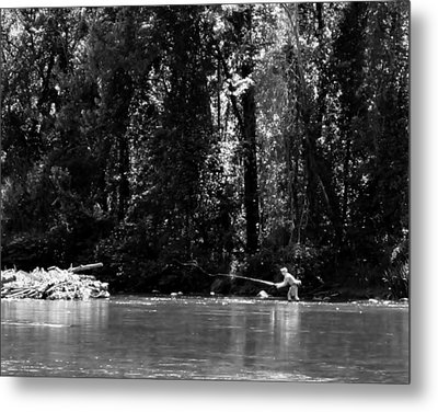 Flyfishing In The Watauga Metal Print