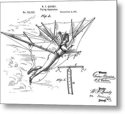 Flying Apparatus Patent Metal Print