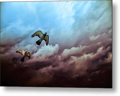 Flying Before The Storm Metal Print by Bob Orsillo