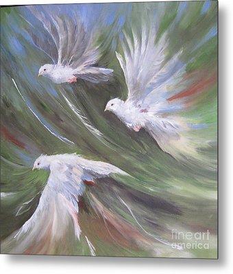 Flying Birds Metal Print by Paula Marsh
