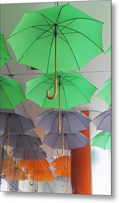 Flying Colorful Umbrellas  Metal Print by Diana Dimitrova