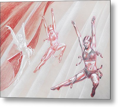 Flying Dancers  Metal Print by Irina Sztukowski