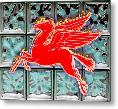 Flying Fire Horse Metal Print by Keith Dillon