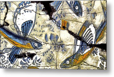 Flying Fish No. 3 - Study No. 2 Metal Print by Steve Bogdanoff