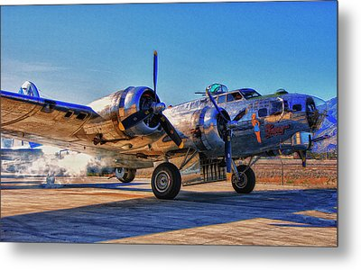 Flying Fortress Sentimental Journey Metal Print