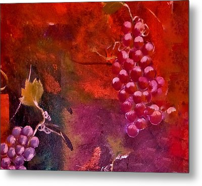Flying Grapes Metal Print by Lisa Kaiser