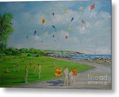Flying Kites Newport Ri Metal Print