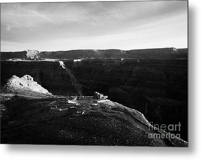 Flying Over Land Approaches To The Rim Of The Grand Canyon At Eagles Point In Hualapai Indian Reserv Metal Print by Joe Fox