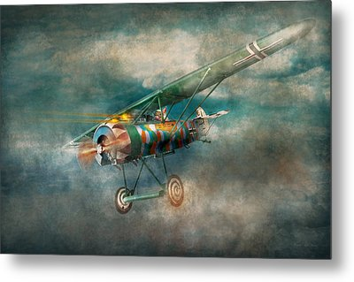 Flying Pig - Acts Of A Pig Metal Print by Mike Savad