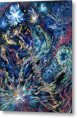 Flying Spirits Metal Print by Karen Nell McKean