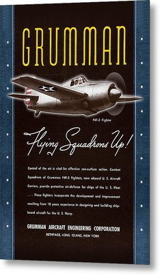 Grumman Flying Squadrons Up Metal Print