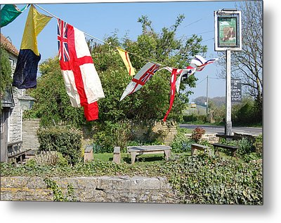 Metal Print featuring the photograph Flying The Flag For St George by Linda Prewer