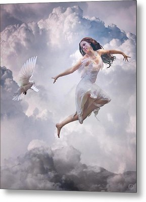 Flying Together Metal Print